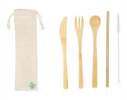 Immagine di Kit posate in bambù L19032