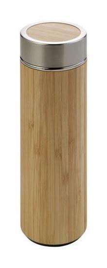 Immagine di Thermos in acciaio e bamboo 8858