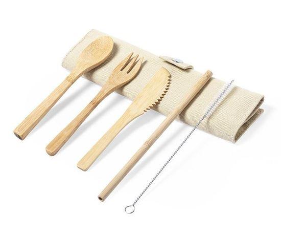 Immagine di Set posate bambù 6887